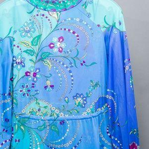 Emilio Pucci Intimates & Sleepwear - Emilio Pucci silk 2-piece night gown P Vintage